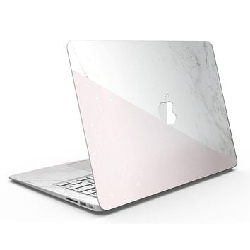 Pale Pink Slanted Marble Surface - MacBook Air Skin Kit