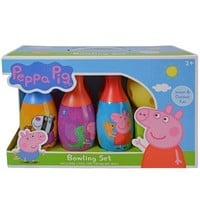 Educational Pretend Party Favors E-one Peppa Pig Bowling Set in Display Box