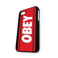 Black OBEY Logo iPhone 5C Case