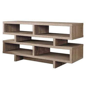 """15'.5"""" x 47'.25"""" x 23'.75"""" Dark Taupe, Particle Board, Hollow-Core - TV Stand"""