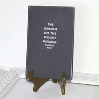 """Vintage Book: """"The Sermon on the Mount"""" by Emmet Fox c. 1938 Blue Hardcover Book , Religious Book on the Teachings of Jesus"""