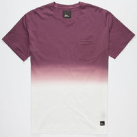 Imperial Motion Dip Dye Mens Pocket Tee Eggplant  In Sizes