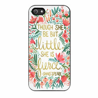 Red Flowers Though She Be But Little She Is iPhone 5 Case