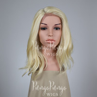 Platinum Blonde Wig /Lace Front Wig + Center Part/ Medium Long The OA Costume Stranger Things 11 Eleven Cosplay Short Scene /Lady Series