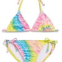 Girl's Billabong 'To Dye For' Two-Piece Swimsuit
