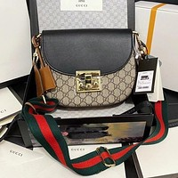 Gucci Fashion Western Saddle Bag Shoulder Messenger Bag