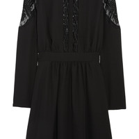 ALICE by Temperley - Dawn embroidered tulle-paneled crepe dress