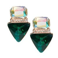 ASOS Jewelled Triangle Stud Earrings at asos.com