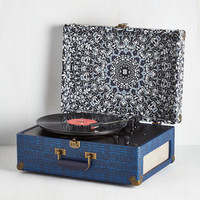 Music Check Your Vinyl Signs Turntable in Blue by ModCloth