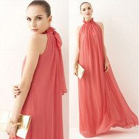 Bohemia Prom Dress Chiffon Dress One Piece Dress [4915016644]