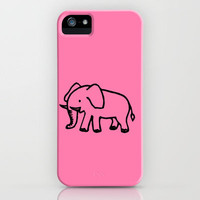 pink elephant iPhone Case by Julia Loring | Society6