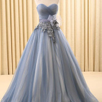 Strapless Gray Home Coming Ball Gown Dress   RS6802-C