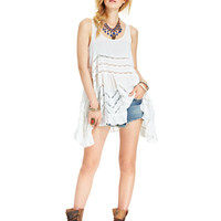 Free People Sleeveless Printed Trapeze Dress