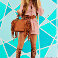 Give Me What You've Got Romper: Blush