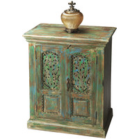 Hand-Painted & Distressed Storage Cabinet