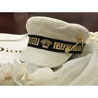 Versace Newest Popular Women Men Sports Uv Protection Sun Hat Visor Hat Cap