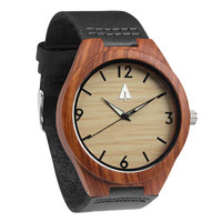 Wooden Watch // Rosewood 25 Black
