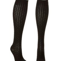 Pointelle Knit Over-the-Knee Socks by Charlotte Russe