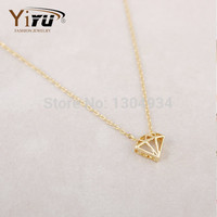 Min 1pc Gold and Silver 3D Jewelry Necklace Classic Korean Fashion Elegant Cute Lovely Simple Long Women Necklace N069