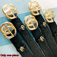 GUCCI Double G Embossed Belt Classic Double G Buckle Belt