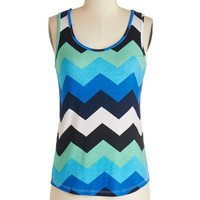 ModCloth Tank top (2 thick straps) Oceanfront and Center Top