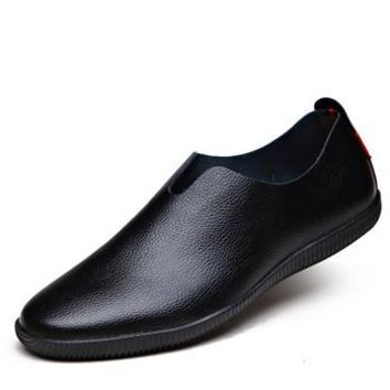 New genuine leather loafers mens moccasin slippers natural rubber sole driving loafer pointed toe fashion