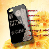 led-zeppelin Hard plastic and Rubber case iphone 4/4s,5/5s,5c,Samsung S3 i9300,S4 i9500