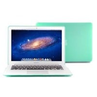 """GMYLE (TM) Robin Egg Blue Turquoise Rubberized See Through Hard Shell Snap On Carrying Case Skin Slim Fit for 13 """" Apple Macbook Air"""