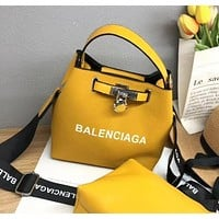 Balenciaga Small Bags New Women's Bags Handbags Fashion Broadband Messenger Bag Trendy Two-piece Picture-in-One Bag