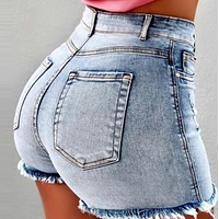 New women's ultra short sexy high waist jeans