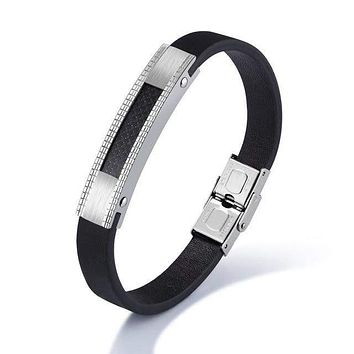 Genuine Leather Bracelet for Man