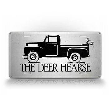 The Deer Hearse Truck And Hunter License Plate