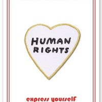 Human Rights Heart -- Iron On Patch