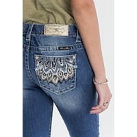 Feather Falls Mid Rise Boot Cut