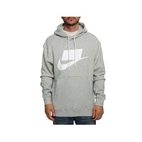 Nike Men's NSW Sportswear French Terry Pullover Hoodie Gray