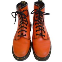 Pre-owned Dr. Martens Bright Edgy Vintage Orange Boots