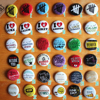 "5 Seconds of Summer PICK 6 Custom 5SOS 1.25"" Buttons Pack"