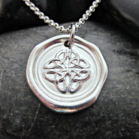Celtic Knot Wax Seal Necklace - Artisan