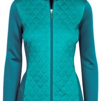 Greg Norman Ladies & Plus Size Quilted Knit Golf Jackets - ESSENTIALS (Assorted Colors)