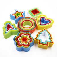 Colorful Cookies Fondant Cake Decorating Sugarcraft Plunger Cutter Tools Mold 3C