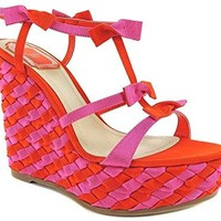 Dior Christian Doll Sandale compensées Woven Wedge 7 US 37 IT