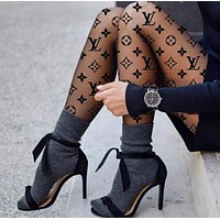 LV  Louis Vuitton Black Tights