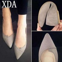 xda 2017 women shoes woman flats high quality suede casual comfortable pointed toe rub  number 1