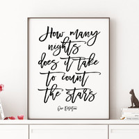 ONE DIRECTION ART Typography Art Print Song Lyrics One Direction Infinity Lyrics Minimalist Poster Quote Print Printable One direction quote