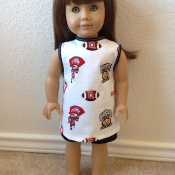 Ohio State Football Shirt: fits most 18 in dolls