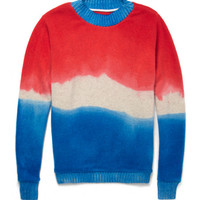 The Elder Statesman - Dip-Dyed Cashmere Sweater | MR PORTER