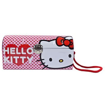 Hello Kitty - Head and Hearts Metal Purse Tin Tote
