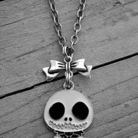 Nightmare Before Christmas Necklace Jack Skellington Necklace Nightmare Before Christmas Jewelry Jack Skellington Jewelry Gothic Goth Skull