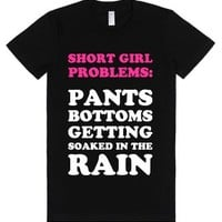 Short Girl Problems-Female Black T-Shirt