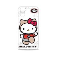 Tribeca Gear FVA7586 Hard Shell Case for iPhone 5 - Hello Kitty - University of Georgia - 1 Pack - Retail Packaging - White